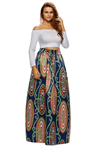 JUPE MAXI IMPRIME WAX TAILLE M